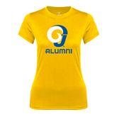 Ladies Syntrel Performance Gold Tee-Alumni
