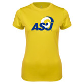 Ladies Syntrel Performance Gold Tee-ASU Logo