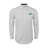 White Twill Button Down Long Sleeve-ASU