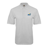 White Easycare Pique Polo-ASU