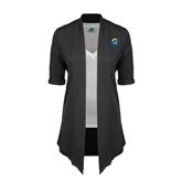 Ladies Grey Drape Front Cardigan-ASU