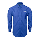 Mens Royal Oxford Long Sleeve Shirt-Angelo State
