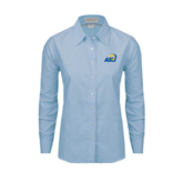 Ladies Light Blue Oxford Shirt-ASU