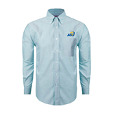 Mens Light Blue Oxford Long Sleeve Shirt-ASU