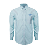 Mens Light Blue Oxford Long Sleeve Shirt-Angelo State