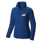 Columbia Ladies Full Zip Royal Fleece Jacket-ASU Logo