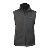 Fleece Full Zip Charcoal Vest-ASU