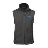Fleece Full Zip Charcoal Vest-Angelo State