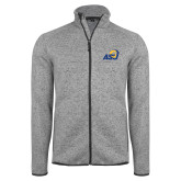 Grey Heather Fleece Jacket-ASU Logo