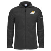 Columbia Full Zip Charcoal Fleece Jacket-ASU Logo