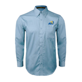 Light Blue Twill Button Down Long Sleeve-ASU