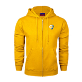 Champion Gold Fleece Full Zip Hood-Official Logo