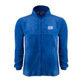 Fleece Full Zip Royal Jacket-Angelo State