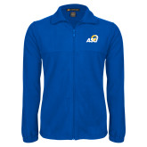 Fleece Full Zip Royal Jacket-ASU Logo