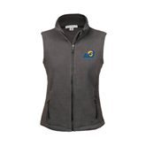 Ladies Fleece Full Zip Charcoal Vest-ASU