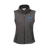 Ladies Fleece Full Zip Charcoal Vest-Angelo State
