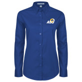Ladies Royal Twill Button Down Long Sleeve-ASU