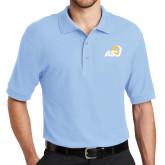 Light Blue Easycare Pique Polo-ASU Logo