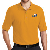 Gold Easycare Pique Polo-ASU Logo