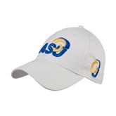 White Heavyweight Twill Pro Style Hat-ASU
