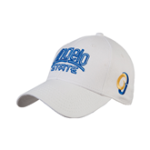 White Heavyweight Twill Pro Style Hat-Angelo State