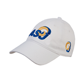 White Twill Unstructured Low Profile Hat-ASU