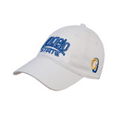 White Twill Unstructured Low Profile Hat-Angelo State