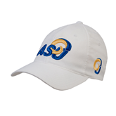 White OttoFlex Unstructured Low Profile Hat-ASU