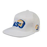 White OttoFlex Flat Bill Pro Style Hat-ASU