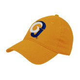Gold Twill Unstructured Low Profile Hat-Ram Logo