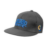 Charcoal Flexfit Flat Bill Pro Style Hat-Angelo State