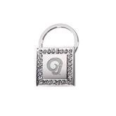 Crystal Studded Square Key Holder-Official Logo Engraved