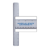 12 Inch White Plastic Ruler-Angelo State University