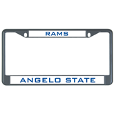 Metal License Plate Frame in Black-Angelo State