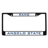 Metal License Plate Frame in Black-Rams