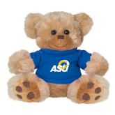 Plush Big Paw 8 1/2 inch Brown Bear w/Royal Shirt-ASU Logo