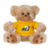 Plush Big Paw 8 1/2 inch Brown Bear w/Gold Shirt-ASU Logo