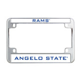 Metal Motorcycle License Plate Frame in Chrome-Rams