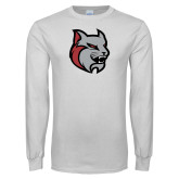 White Long Sleeve T Shirt-Amcat Head