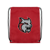 Cardinal Drawstring Backpack-Amcat Head