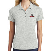 Ladies Silver Electric Heather Polo-Primary Mark