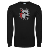 Black Long Sleeve T Shirt-Amcat Head