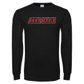 Black Long Sleeve T Shirt-Wordmark