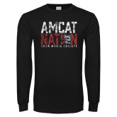 Black Long Sleeve T Shirt-Amcat Nation