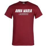 Cardinal T Shirt-Lacrosse Wordmark