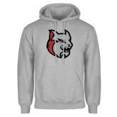 Grey Fleece Hoodie-Amcat Head