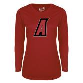 Ladies Syntrel Performance Cardinal Longsleeve Shirt-A