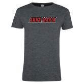 Ladies Dark Heather T Shirt-Wordmark