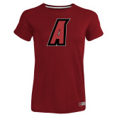 Ladies Russell Cardinal Essential T Shirt-A