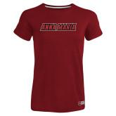 Ladies Russell Cardinal Essential T Shirt-Wordmark